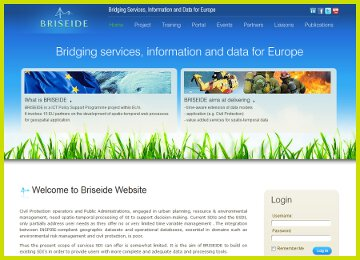 Briseide - BRIdging SErvices, Information and Data for Europe